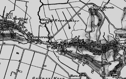 Old map of Westbury Moor in 1898