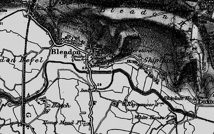 Old map of Bleadon in 1898