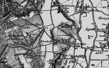 Old map of Whitefield Bottom in 1895