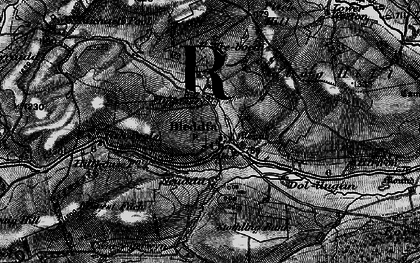 Old map of Bleddfa in 1899