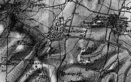 Old map of Blewbury in 1895