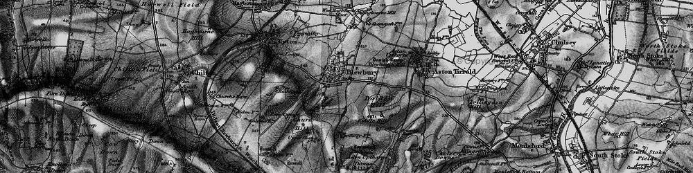 Old map of Blewbury in 1895