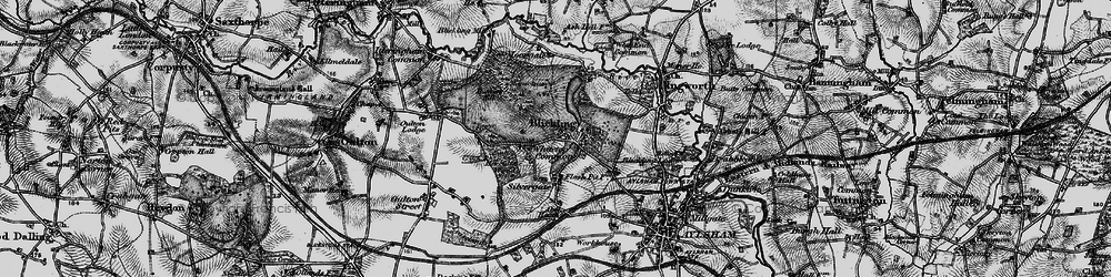 Old map of Blickling in 1898