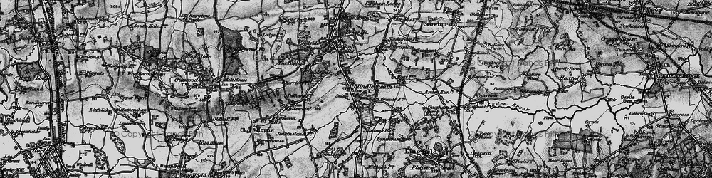 Old map of Ardenrun in 1895