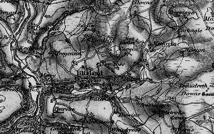 Old map of Blisland in 1895