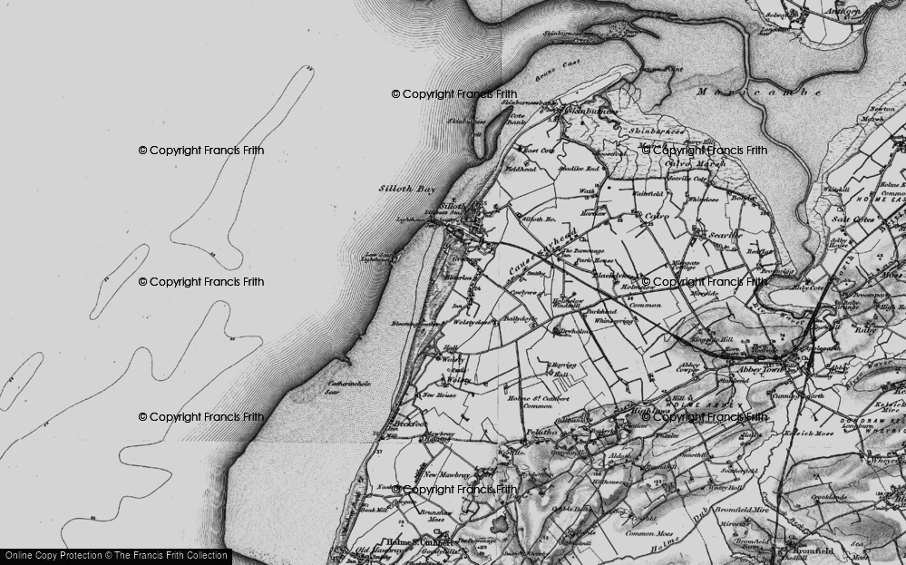 Old Map of Historic Map covering Lees Scar in 1897