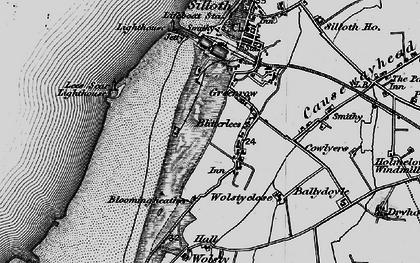 Old map of Lees Scar in 1897