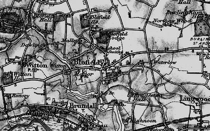 Old map of Witton Br in 1898