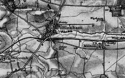Old map of Bloxham in 1896