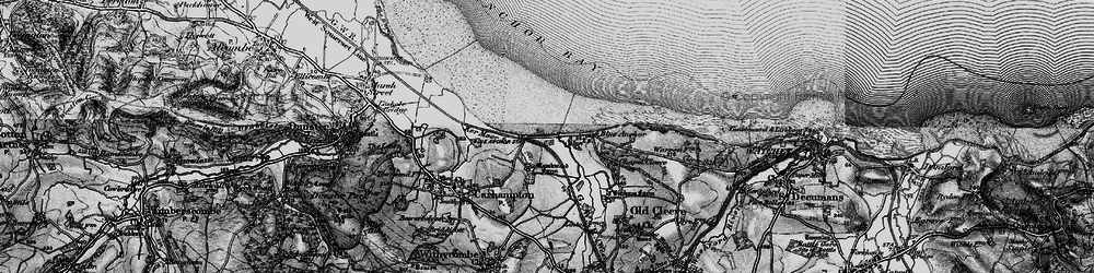 Old map of Blue Anchor in 1898
