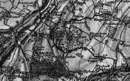 Old map of Bluetown in 1895