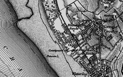 Old map of Blundellsands in 1896