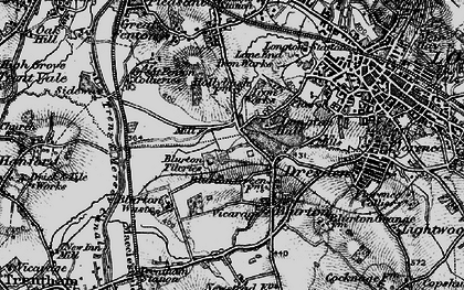 Old map of Blurton in 1897