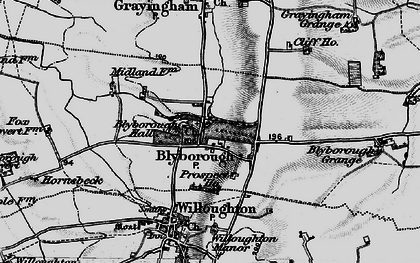 Old map of Blyborough in 1898