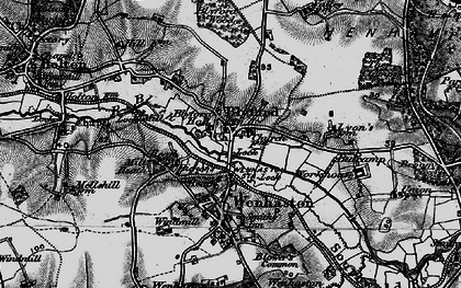 Old map of Blyford in 1898