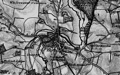 Old map of Blyth in 1895