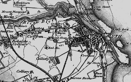 Old map of Blyth in 1897