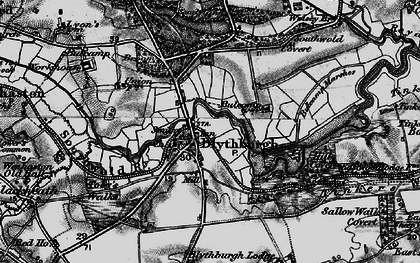 Old map of Westwood Lodge in 1898