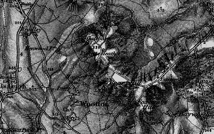 Old map of Youlbury Wood in 1895