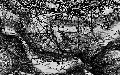 Old map of Boarsgreave in 1896