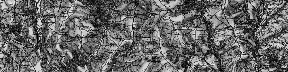 Old map of Winnick in 1896