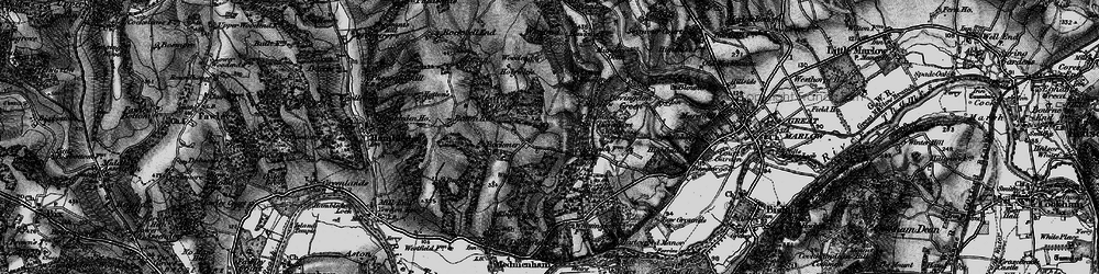 Old map of Widefield Wood in 1895