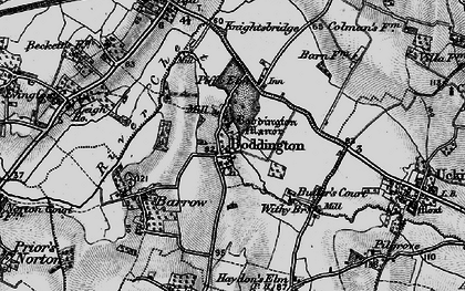 Old map of Boddington in 1896
