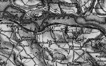 Old map of Bodellick in 1895