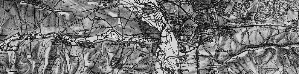 Old map of Bodenham in 1895