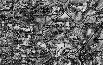 Old map of Afon Wygyr in 1899