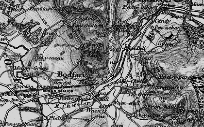 Old map of Bodfari in 1896