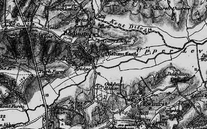 Old map of Bodiam in 1895