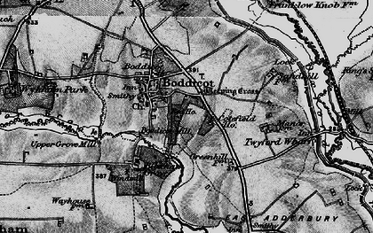 Old map of Bodicote in 1896