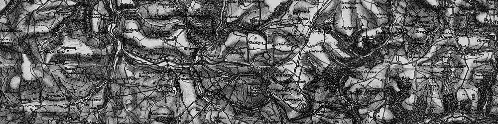 Old map of Bodmin in 1895