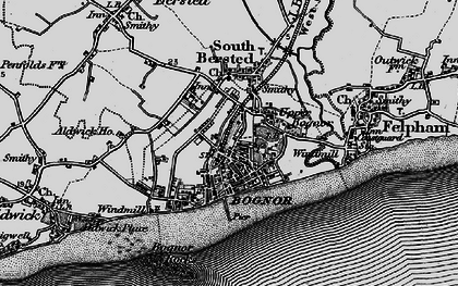 Old map of Bognor Regis in 1895