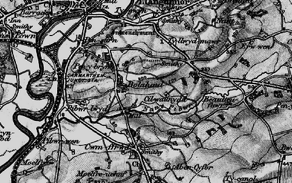 Old map of Bolahaul Fm in 1898