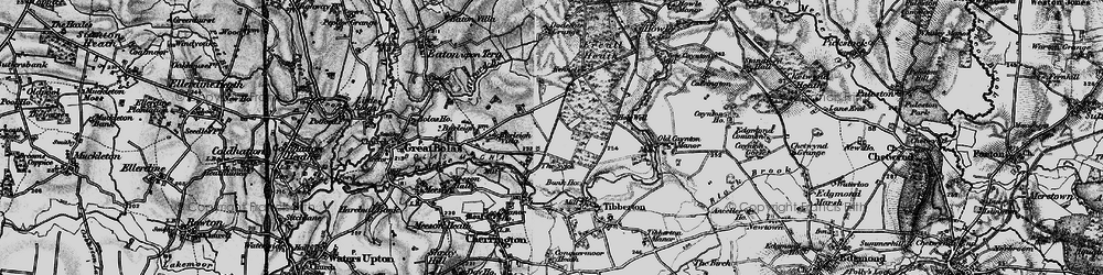 Old map of Allford Brook in 1899