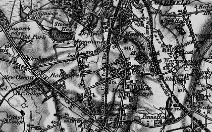 Old map of Wyndley Pool in 1899