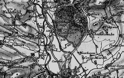Old map of Worth Ho in 1898