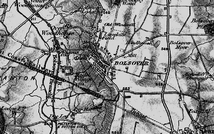Old map of Bolsover in 1896