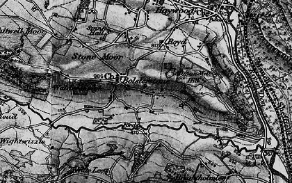 Old map of Bolsterstone in 1896