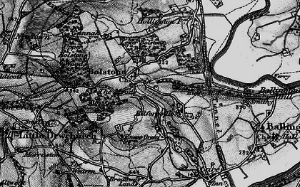 Old map of Witherstone in 1896
