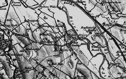 Old map of Westley Bank Cotts in 1897