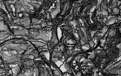 Old map of Bolton Abbey in 1898