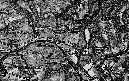 Old map of Westy Bank Wood in 1898
