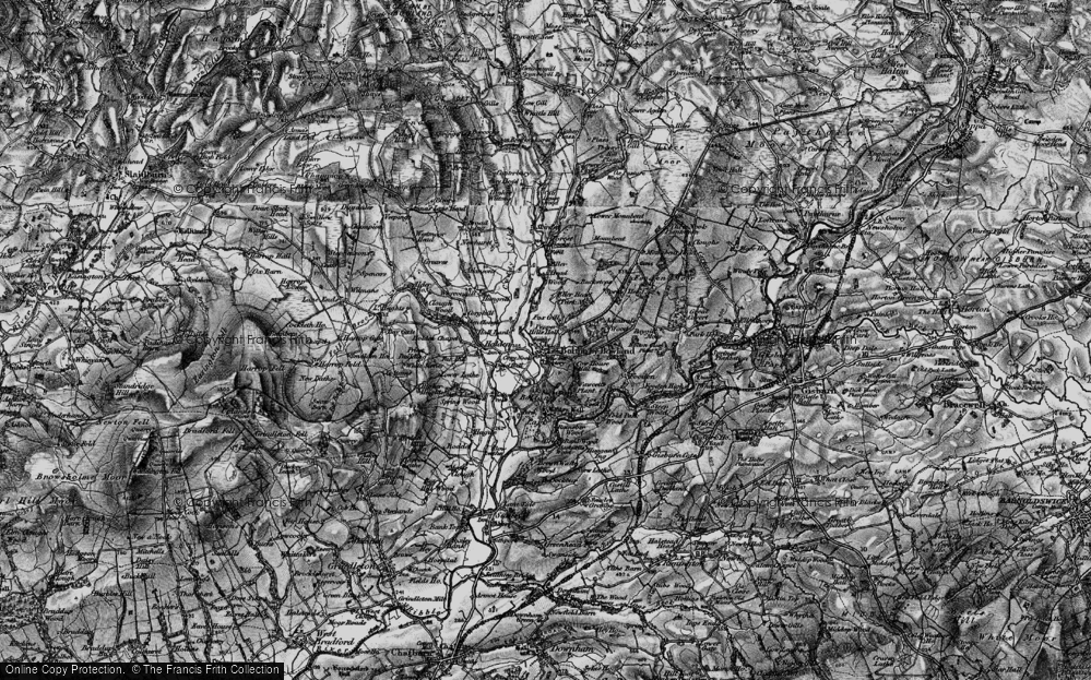 Old Map of Historic Map covering Admiral's Wood in 1898