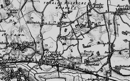 Old map of Bolton Houses in 1896