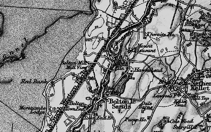 Old map of Bolton-le-Sands in 1898