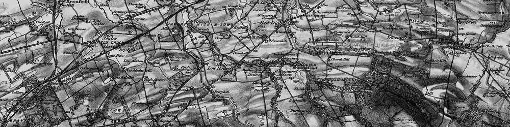 Old map of Wreay, The in 1897