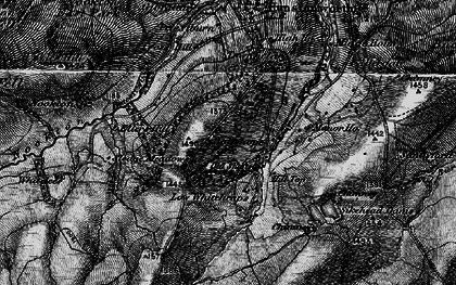 Old map of Whitelees in 1898